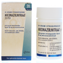 Daktarin poeder -- Miconazolnitraat 20 gram