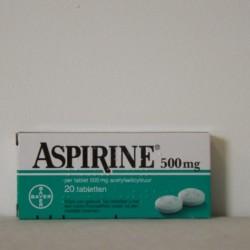 Aspirine Bayer 500 mg (20 stuks)