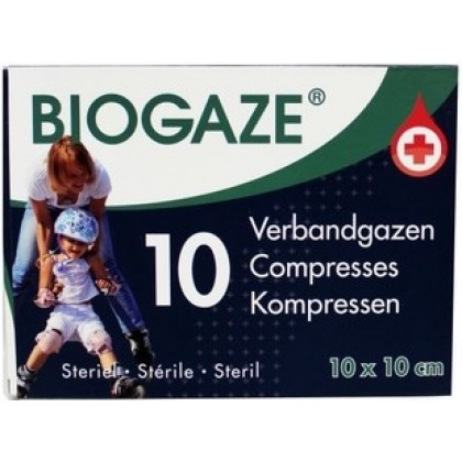 Biogaze 10x10 cm (10 stuks)